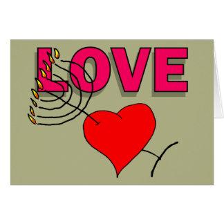 ハヌカー(ユダヤ教の祭り) 101の愛 カード