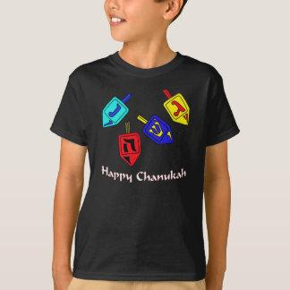 ハヌカー(ユダヤ教の祭り) Dreidels Tシャツ