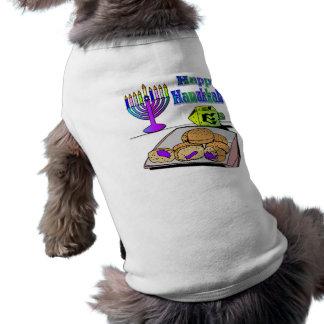 ハヌカー-食糧、Dreidelの(ユダヤ教)メノラーペット衣類 ペット服