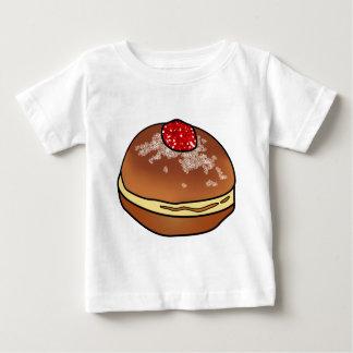 ハヌカーSufganiyahのゼリー入りのドーナツ ベビーTシャツ