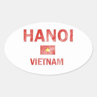 ハノイベトナムのデザイン 楕円形シール