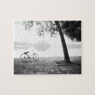 ハノイベトナム、自転車及び湾のMau湖のレーニン公園 ジグソーパズル