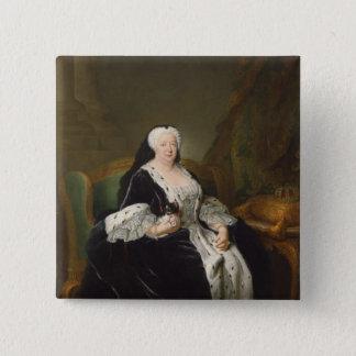 ハノーバーのSophia Dorothea女王 5.1cm 正方形バッジ