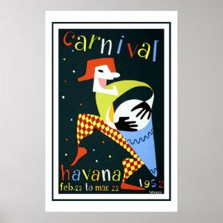 ハバナのヴィンテージ旅行のカーニバル ポスター