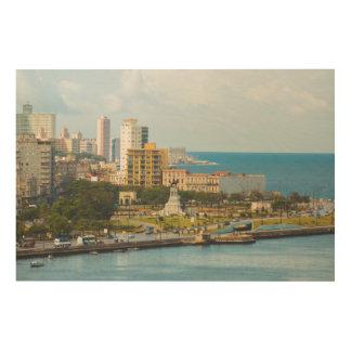 ハバナの水辺地帯、キューバ ウッドウォールアート