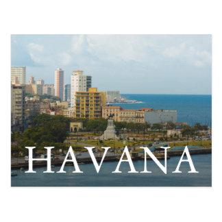 ハバナの水辺地帯、キューバ ポストカード