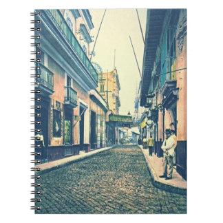 ハバナの通りキューバ1899年 ノートブック