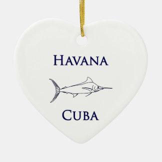 ハバナキューバのマカジキ セラミックオーナメント