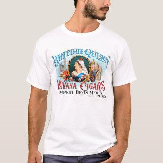 ハバナレトロのヴィンテージの低俗なシガーのイギリスの女王 Tシャツ
