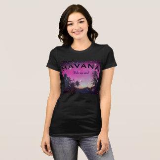ハバナOoh Na Naの星明かりの日没のやしキューバのTシャツ Tシャツ