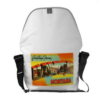 ハバーモンタナMTの古いヴィンテージ旅行記念品 メッセンジャーバッグ