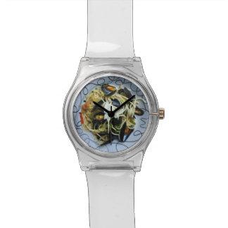ハマグリのパスタのグルメの腕時計 腕時計