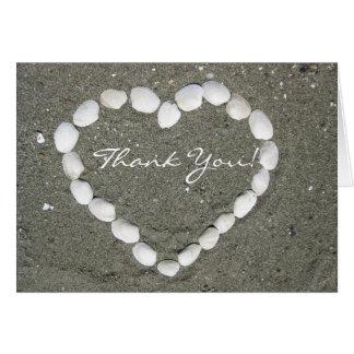 ハマグリの貝の挨拶状ありがとう グリーティングカード