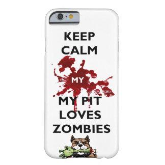 ハマグリをピットブル愛ゾンビのIPhoneの私の例飼って下さい Barely There iPhone 6 ケース