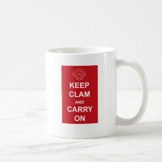 ハマグリを飼い、続けていって下さい コーヒーマグカップ