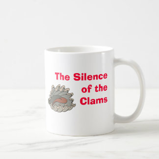 ハマグリ、ハマグリの沈黙 コーヒーマグカップ