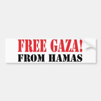 ハマスからの自由なガザ バンパーステッカー