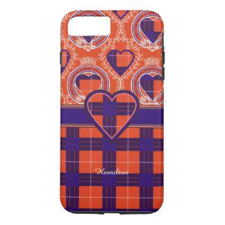 ハミルトン一族の格子縞のスコットランド人のタータンチェック iPhone 8 PLUS/7 PLUSケース