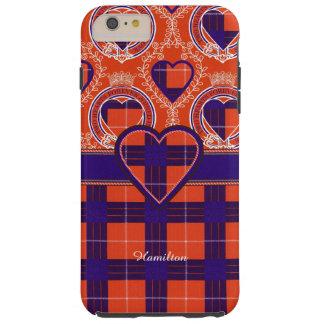ハミルトン一族の格子縞のスコットランド人のタータンチェック TOUGH iPhone 6 PLUS ケース