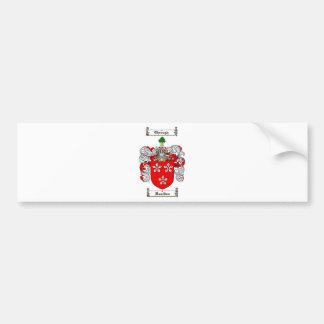 ハミルトン家紋-ハミルトン紋章付き外衣 バンパーステッカー