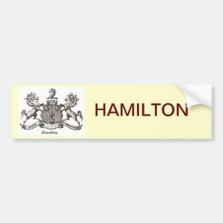 ハミルトン家紋 バンパーステッカー