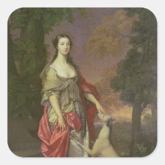 、ハミルトン撃っているエリザベス1752-3年の公爵夫人 スクエアシール