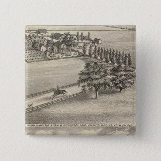 ハミルトン農場、Beamer bldg 5.1cm 正方形バッジ
