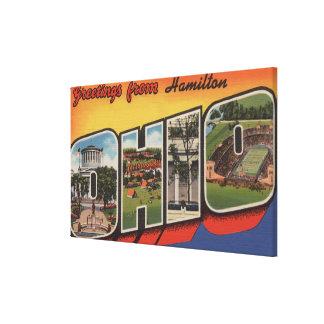 ハミルトン、オハイオ州-大きい手紙場面 キャンバスプリント