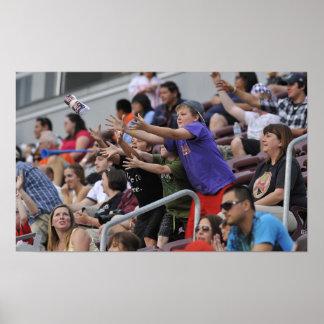 ハミルトン、カナダ- 6月18:  若いファンの取得 ポスター