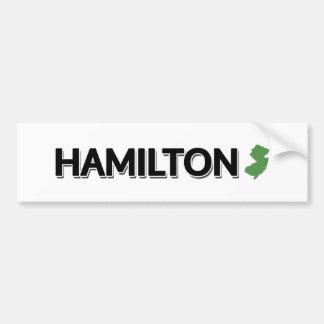 ハミルトン、ニュージャージー バンパーステッカー