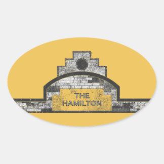 ハミルトン 楕円形シール