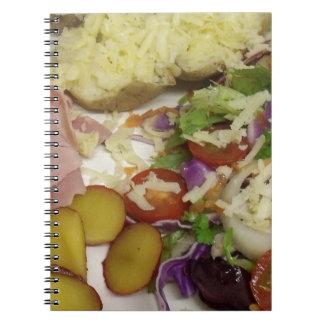 ハムのサラダおよび着服 ノートブック