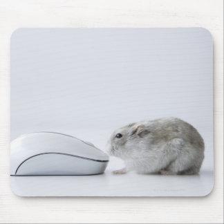 ハムスターおよびコンピュータマウス マウスパッド