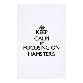 ハムスターに焦点を合わせることによって平静を保って下さい 便箋