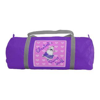 ハムスターのバレリーナのダンスのバッグの紫色のピンク ジムバッグ