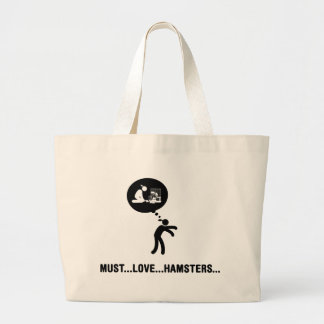ハムスターの恋人 ラージトートバッグ