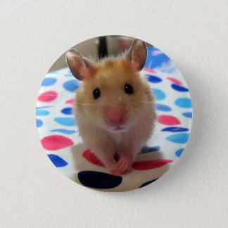 ハムスターのPinbackボタン 5.7cm 丸型バッジ