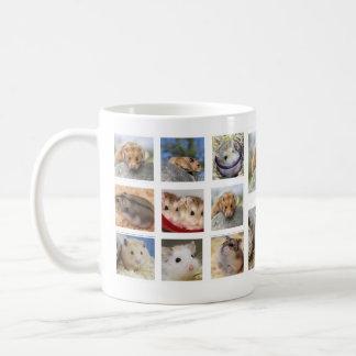 ハムスターまたはスナネズミのコラージュの写真のマグ(円形) コーヒーマグカップ
