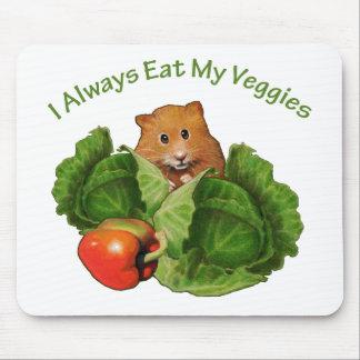 ハムスター: 私の野菜を常に食べて下さい: 健康 マウスパッド