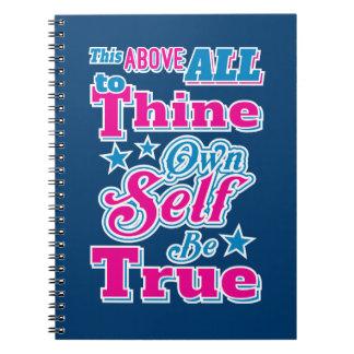 ハムレットがThineに自己を所有するシェークスピアは本当の引用文です ノートブック