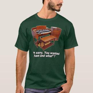 ハモンドオルガンおよびレスリーのティー Tシャツ