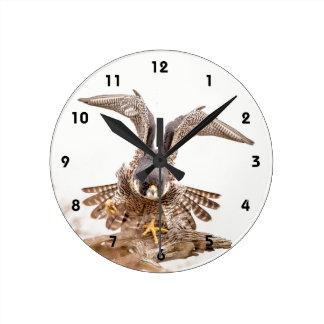ハヤブサ ラウンド壁時計