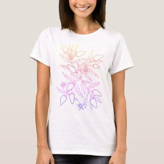 ハラペーニョのスプレーの線画のデザイン Tシャツ