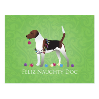 ハリアーのクリスマスのデザイン ポストカード