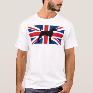 ハリアーのシルエットイギリスUnited_Kingdom flag.png Tシャツ