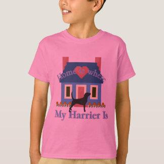 ハリアーの家はあります Tシャツ