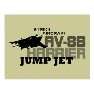 ハリアーはジェット機を跳びます- ポストカード