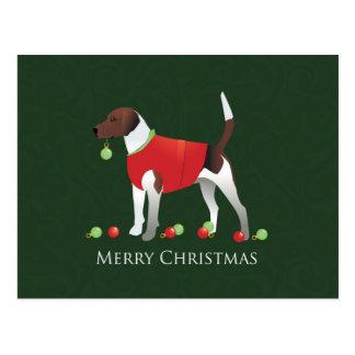 ハリアー犬のクリスマスのデザイン ポストカード
