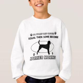 ハリアー犬のデザイン スウェットシャツ
