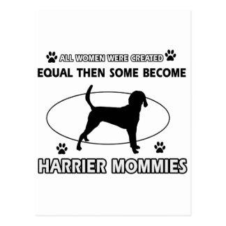 ハリアー犬のデザイン ポストカード